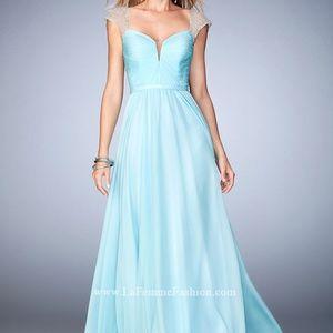 NWT: La Femme Dress with Rhinestone Embellishments